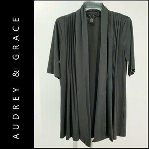 Audrey & Grace Women Open Front Cardigan Medium